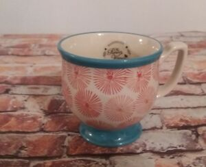 The-Pioneer-Woman-Flea-Market-Happiness-Mug-Coffee-Cup-Red-Turquoise