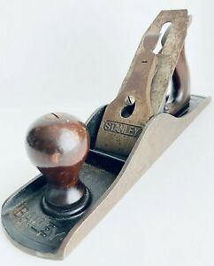 Stanley-Bailey-Woodworking-Smooth-Hand-Jack-Planer-No-5-USA-14-034-x-2-5-034-Plane-VTG
