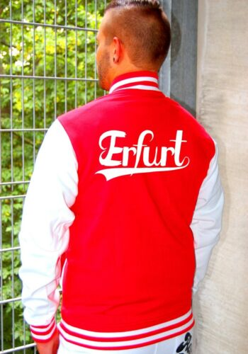 college Giacca In baseball Erfurt Giacca Giacca stile da oldschool da felpata gwqHfX58