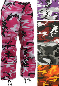 Image is loading Womens-Camo-Military-Fatigues-8-Pocket-Cargo-Army- 8f98642cd