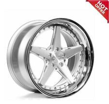 Set 20 Staggered Rennen Wheels Csl 7 Silver With Chrome Lip Rims S17
