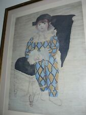 PABLO PICASSO PAUL EN ARLEQUIN 1924 LIMITED PRINT 5000 MADE IN FRANCE