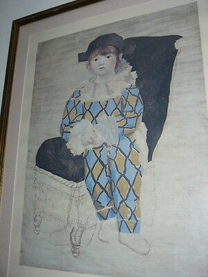 Pablo Picasso-Assis Harlequin Imprimé poster giclee