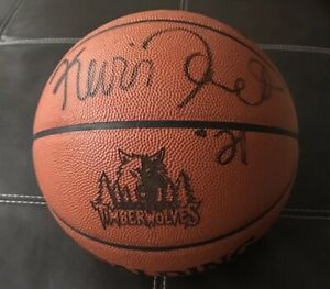 super popular 8bf2a 39dcc Details about Kevin Garnett Signed Official NBA Basketball W/ Timberwolves  Laser Engraved Logo