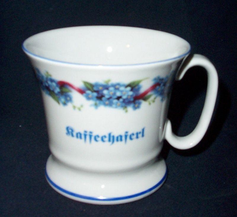 Vatertasse Kaffee Kaffee Kaffee Haferl Vergißmeinnicht Porzellan | Online einkaufen  41548b