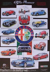 Alfa Romeo Poster C P B GTV Giulia Montreal SZ - Alfa romeo poster