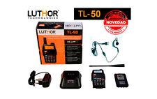 WALKIE BIBANDA VHF/UHF LUTHOR TL50 CON 5W TAMAÑO REDUCIDO Y CON AURICULAR GRATIS