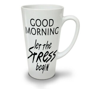 Easy Morning NEW White Tea Coffee Latte Mug 12 17 oz   Wellcoda