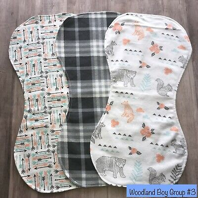 Handmade Boys Double Flannel Burp Cloths SEE DETAILS FOR SPECIAL OFFER!
