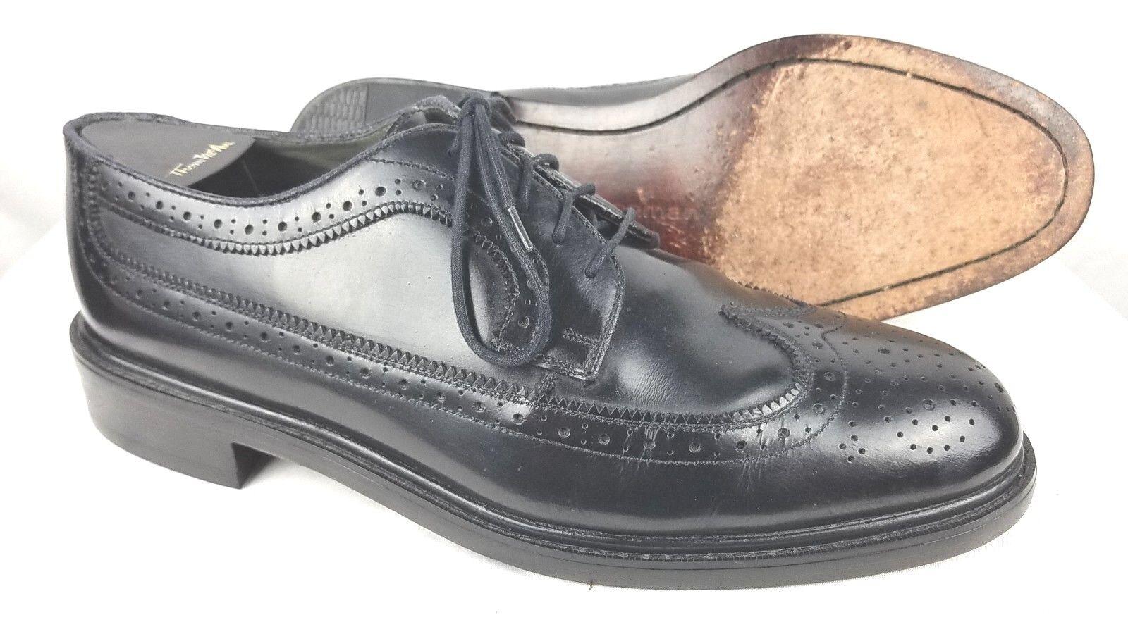 JARMAN Men's Black Leather Longwings bluecher Oxford Dress shoes Brogue Size 10 M