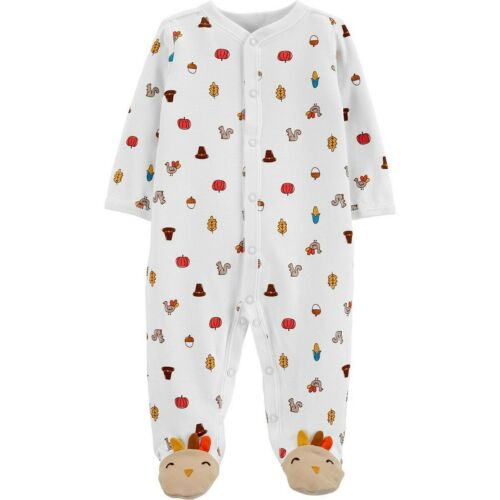 Carter/'s Unisex Baby Thanksgiving Snap-Up Cotton Sleep /& Play ~ newborn NWT