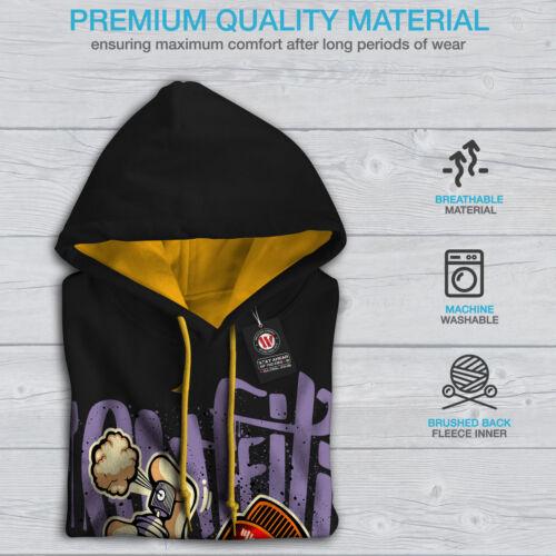 oro Graffiti Felpa Crime New Black Fashion Contriti cappuccio Fashion cappuccio con qn4qR1wF