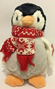 Penelope-Penguin-Christmas-Scarf-Soft-Toy-By-A-S-Watson-New-With-Tags