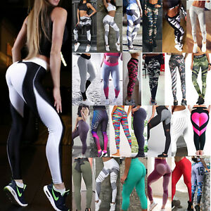 Womens-Workout-Leggings-Yoga-Gym-Slim-Fit-Sports-Training-Push-Up-Pants-Jogging