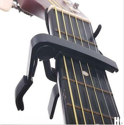 HO US Quick Change Clamp Key Capo For Acoustic / Electric / Classic Guitar Black