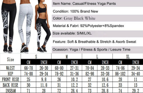 Ladies Womens Sport Compression Fitness Leggings Running Gym Yoga Pants Trousers