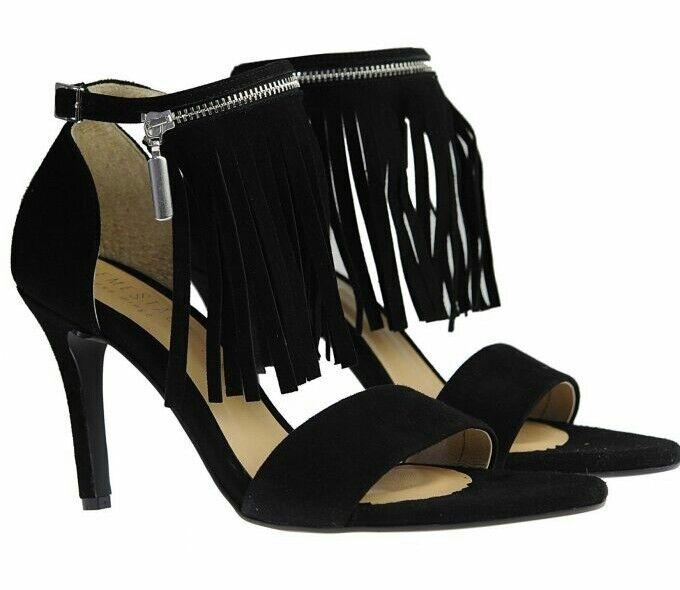 Eva Minge Design Leder High Heels Sandales Spring Summer Sexy Party Fringe
