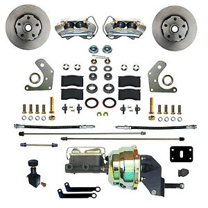 Details about Mopar B & E Body Front Power Disc Brake Conversion Kit with 4  Piston Calipers