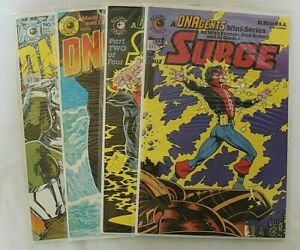 ECLIPSE COMICS DNAgents ISSUES 13 & 22 SURGE PART 1 & 2 OF 4 COLLECTIBLES 1980's