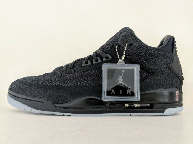 060e0ca4009 Nike Air Jordan 3 Retro Flyknit Sz 15 Blackout Aq1005-001 Limited Glow RARE  DS for sale online | eBay