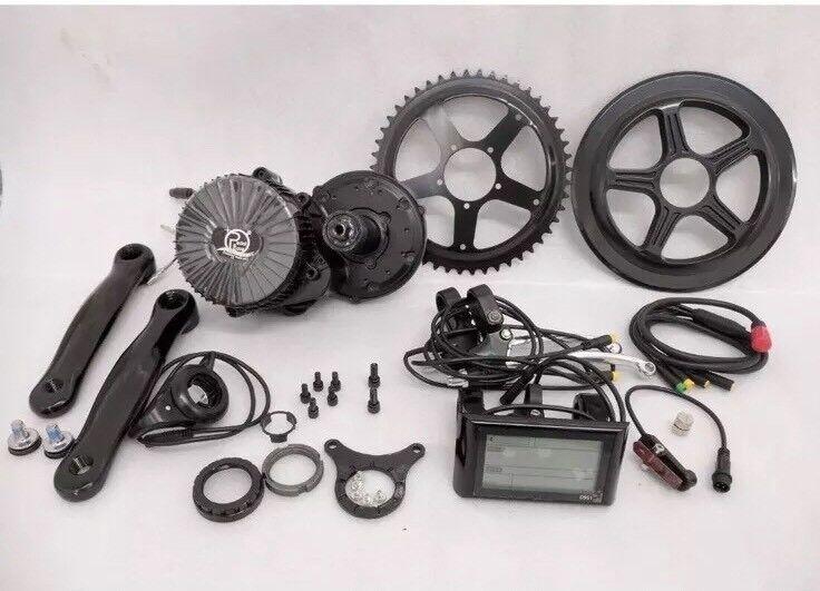 48V 750W Mid drive electric Fahrrad kit 68mm BB 30mph e Fahrrad conversion kit