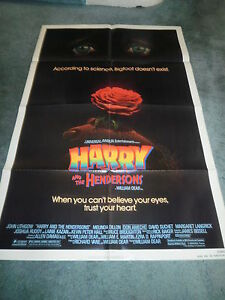 HARRY-AND-THE-HENDERSONS-1987-JOHN-LITHGOW-LOT-OF-10-ORIG-1SHEET-POSTERS-MINT
