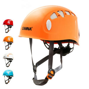 Climbing Safety Helmet Caving Abseiling   Hard Hat Head Protector Blue