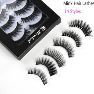 8f067401c94 Image is loading SKONHED-5Pairs-3D-Mink-Hair-False-Eyelashes-Thick-