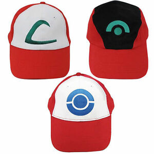 006752214def1 Image is loading Pokemon-Trainer-Satoshi-ASH-KETCHUM-Embroidered-Hat-Cap-