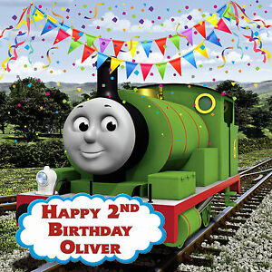 Image Is Loading Percy Thomas And Friends Personalised Edible REAL