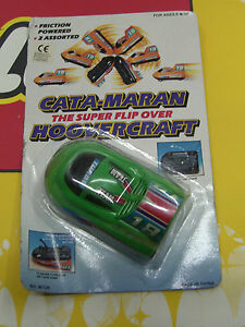 VINTAGE 80'S CATAMARAN HOVERCRAFT FLIP OVER FRICTION POWERED MOC RARE 2