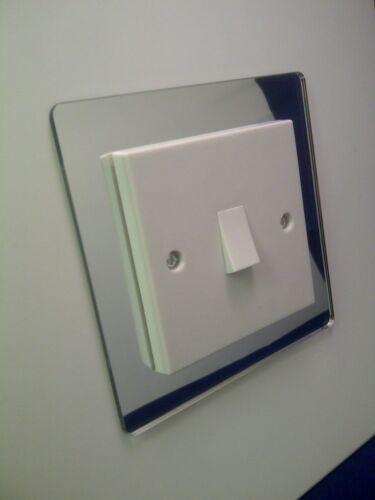 X 2 Simple Interrupteur De Lumière Surround Miroir Acrylique Perspex de doigt