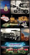 Serviette Drap de plage Las Vegas Route 66 carte postale beach towel 95 x 175 cm