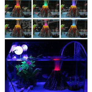 Volcano air bubble stone rockery oxygen pump aquarium for Aquarium volcano decoration