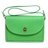 Fossil Austin Leather Convertible Clutch Crossbody Shoulder Bag (bright Green)