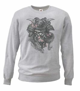 Adults-Unisex-Oni-Mask-Sweatshirt-Grey-Samurai-Male-Hannya-Mask-Christmas-Gift
