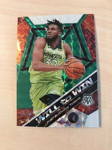 2019-20-Panini-Mosaic-Karl-Anthony-Towns-Will-to-Win-Green-Mosaic-Prizm-SP