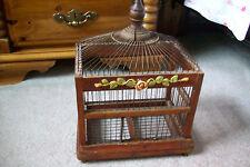 Antique Decorative Victorian Bird Cage Wood Wire