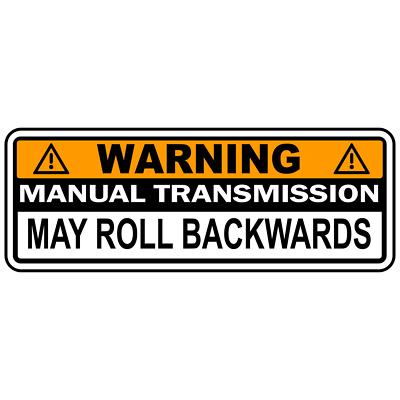 Warning Bumper Sticker Stick Shift Manual Transmission Vinyl Sticker JDM Decal