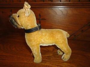 Steiff-1950-1957-Sarras-Boxer-Mohair-Standing-Dog-1317-0-17-CM-Original-Collar