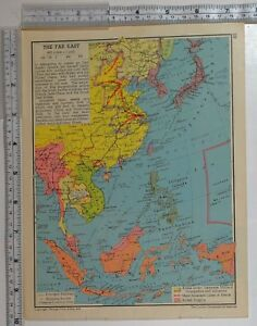 1941 ww2 map far east japan philippine islands east indies borneo image is loading 1941 ww2 map far east japan philippine islands gumiabroncs