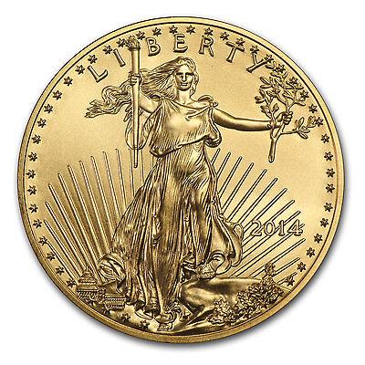 2014 1 oz Gold American Eagle Coin - Brilliant Uncirculated - SKU #83880