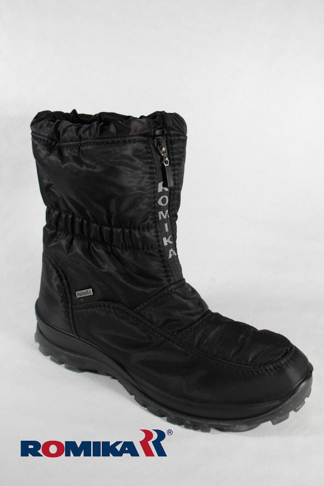 Romika Damen Stiefel Stiefeletten Stiefel 87018 Winterstiefel schwarz NEU