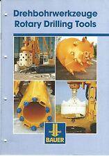 Equipment Brochure - Bauer - Rotary Drilling Tools - c2000  (E3459)