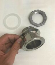 """2"""" Triclamp Adapter Tri-Clamp Weldless Bulkhead Fitting"""