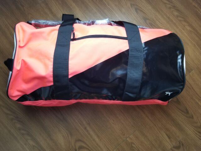 73b1467c2fd4 Victoria s Secret Pink Duffle Bag Gym Travel Tote Neon Red Black ...