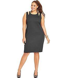 Nwt 69 womens sleeveless sheath dress black 1x 16w 18w 2x 20w 22w m13