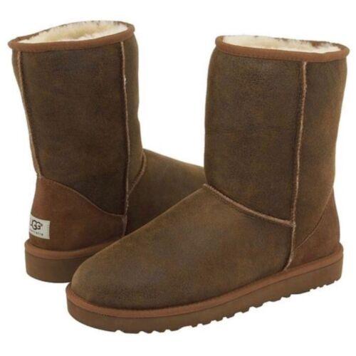 Classic pelle in castagno di Short taglia Bomber 18 Ugg Jacket Mens Boots qxH7C0cwES