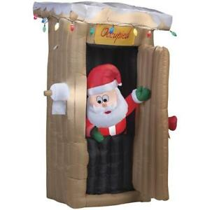 CHRISTMAS-INFLATABLE-6-FT-ANIMATED-LED-LIGHTED-OUTHOUSE-SANTA-YARD-Airblown