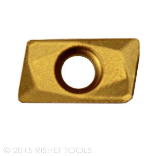 RISHET TOOLS APKT 1604 PDR-HM C2 Multi Layer TIN Coated Carbide Inserts 10 PCS
